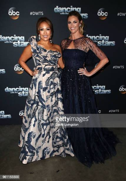 Dancer/competition judge Carrie Ann Inaba and TV personality Erin Andrews pose at ABC's 'Dancing with the Stars Athletes' Season 26 Finale on May 21...
