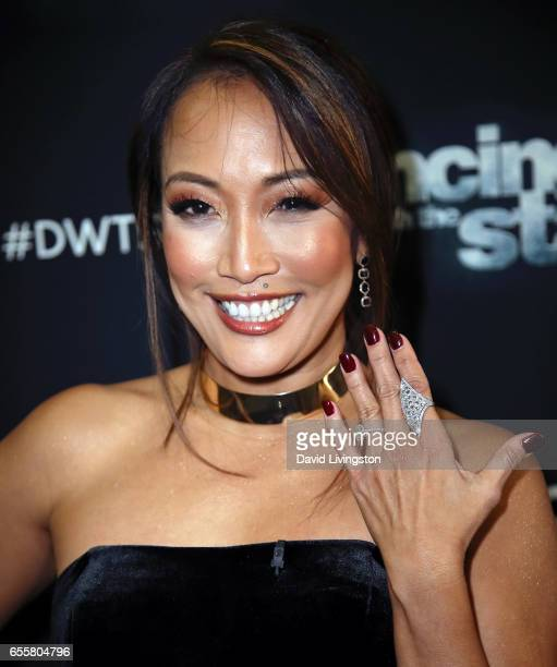 Dancer/competition judge Carrie Ann Inaba attends 'Dancing with the Stars' Season 24 premiere at CBS Televison City on March 20 2017 in Los Angeles...