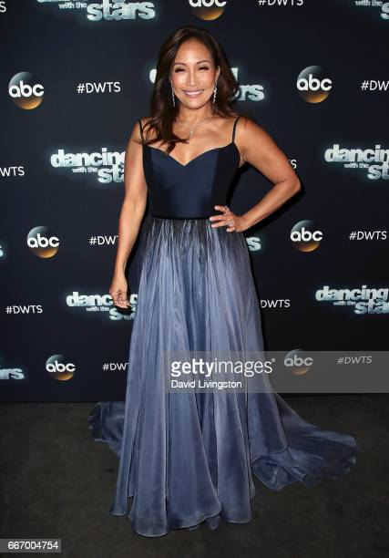 Dancer/competition judge Carrie Ann Inaba attends 'Dancing with the Stars' Season 24 at CBS Televison City on April 10 2017 in Los Angeles California