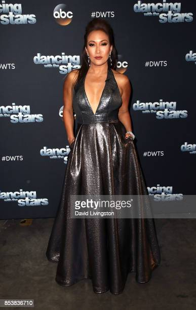 Dancer/competition judge Carrie Ann Inaba attends Dancing with the Stars season 25 at CBS Televison City on September 25 2017 in Los Angeles...