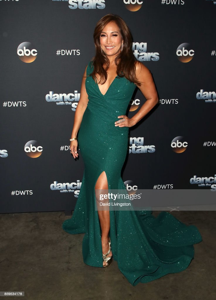 Dancer/competition judge Carrie Ann Inaba attends 'Dancing with the Stars' season 25 at CBS Televison City on October 9, 2017 in Los Angeles, California.