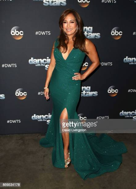 Dancer/competition judge Carrie Ann Inaba attends 'Dancing with the Stars' season 25 at CBS Televison City on October 9 2017 in Los Angeles California
