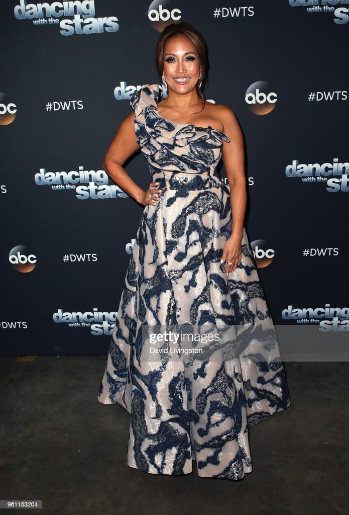 Dancer/competition judge Carrie Ann Inaba poses at ABC's 'Dancing with the Stars: Athletes' Season 26 - Finale on May 21, 2018 in Los Angeles, California.
