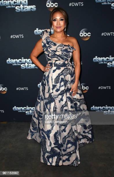 Dancer/competition judge Carrie Ann Inaba poses at ABC's 'Dancing with the Stars Athletes' Season 26 Finale on May 21 2018 in Los Angeles California