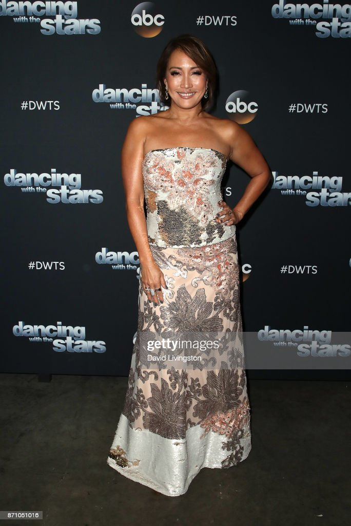 Dancer/competition judge Carrie Ann Inaba poses at 'Dancing with the Stars' season 25 at CBS Televison City on November 6, 2017 in Los Angeles, California.