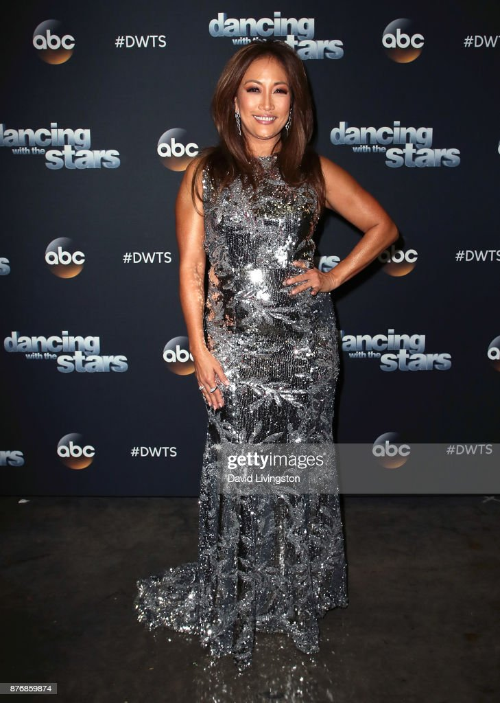 Dancer/competition judge Carrie Ann Inaba poses at 'Dancing with the Stars' season 25 at CBS Televison City on November 20, 2017 in Los Angeles, California.