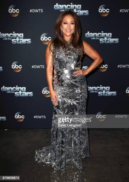 Dancer/competition judge Carrie Ann Inaba poses at 'Dancing with the Stars' season 25 at CBS Televison City on November 20 2017 in Los Angeles...