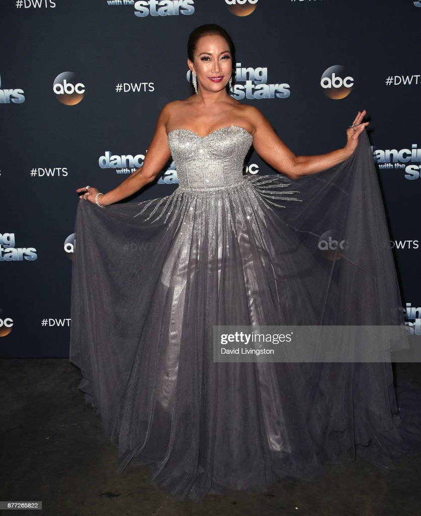 Dancer/competition judge Carrie Ann Inaba poses at 'Dancing with the Stars' season 25 at CBS Televison City on November 21, 2017 in Los Angeles, California.