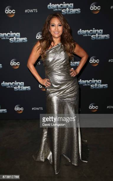 Dancer/competition judge poses at 'Dancing with the Stars' season 25 at CBS Televison City on November 13 2017 in Los Angeles California