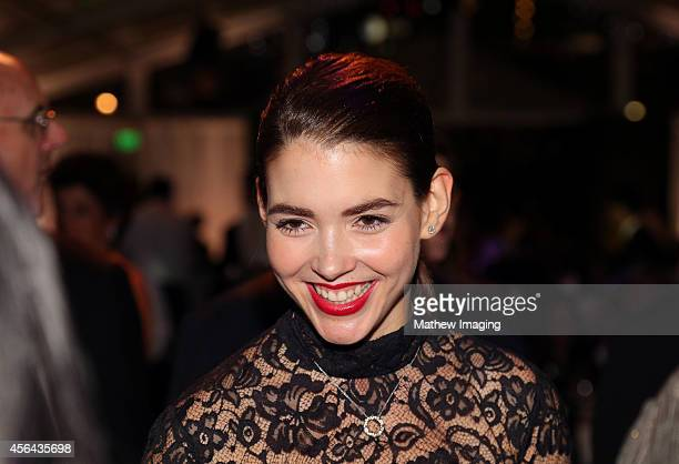 Dancer/journalist Eloisa Knife Maturen attends Los Angeles Philharmonic's Walt Disney Concert Hall Opening Night Gala on September 30 2014 in Los...
