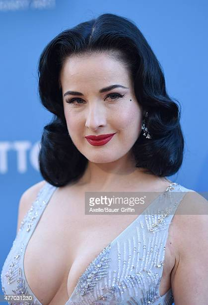 Dancer/model Dita Von Teese attends the 2015 MOCA Gala at The Geffen Contemporary at MOCA on May 30 2015 in Los Angeles California