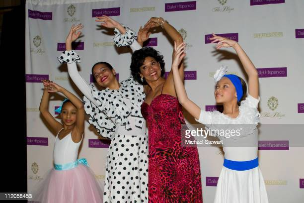 Dancers Abigail Cedano, Angela Paulino, honree Sonia Manzano and Giarra Harris attend the Ballet Hispanico 40th Anniversary Spring Gala at Manhattan...