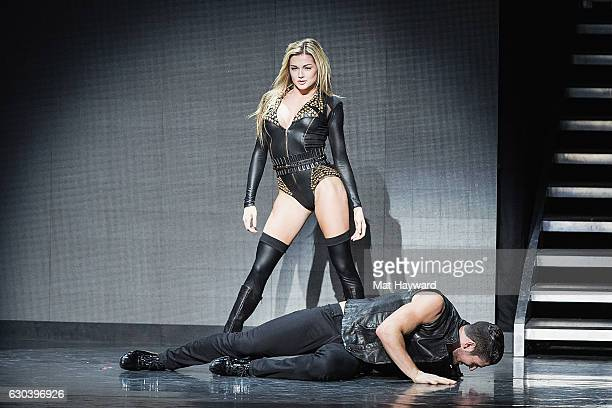 Dancers Alan Bersten and Lindsay Arnold perform during the Dancing With The Stars Live Tour at Paramount Theatre on December 21 2016 in Seattle...