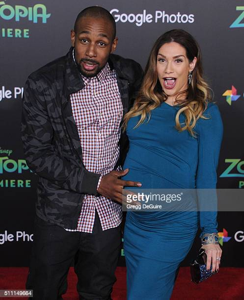 Dancers Allison Holker and Stephen tWitch Boss arrive at the premiere of Walt Disney Animation Studios' Zootopia at the El Capitan Theatre on...