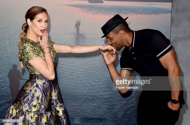 """Dancers Allison Holker and Stephen """"Twitch"""" Boss attend the premiere of Warner Bros. Pictures' """"Kong: Skull Island"""" at Dolby Theatre on March 8, 2017..."""