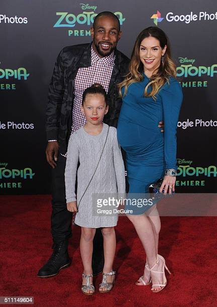 Dancers Allison Holker Stephen tWitch Boss and daughter Weslie Fowler arrive at the premiere of Walt Disney Animation Studios' Zootopia at the El...