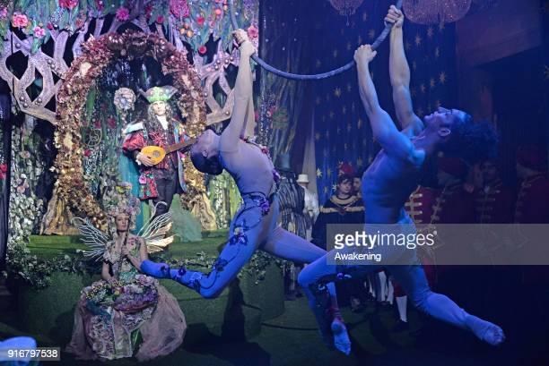 Dancers and actors perform at Palazzo Pisani Moretta during the annual Ballo del Doge on February 10 2018 in Venice Italy The Ballo del Doge created...
