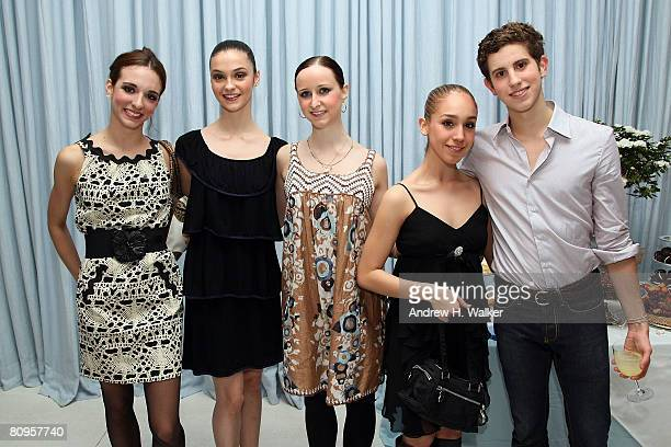 ABT dancers April Giangeruso Jaime Hickey Kaia Annika Mara Thompson and Ty Gurfein attend the American Ballet Theatre premiere of 'Cake' after party...