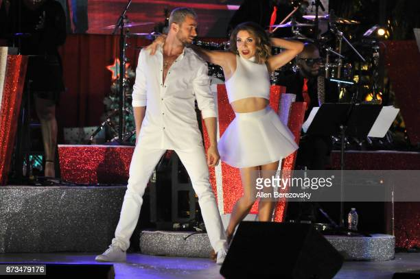 Dancers Artem Chigvintsev and Jenna Johnson perform onstage during A California Christmas at The Grove Presented by Citi on November 12 2017 in Los...