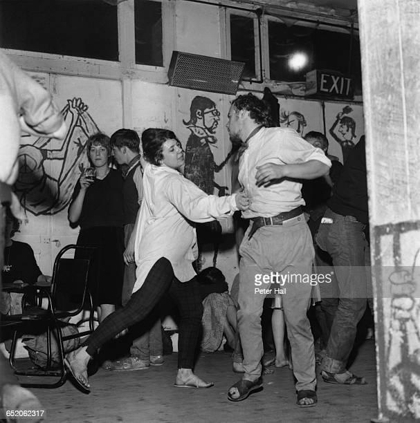 Dancers at a beatnik jazz party on Eel Pie Island Twickenham London 28th August 1960