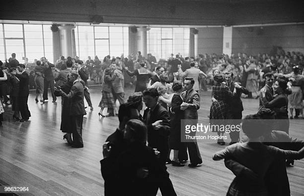 Dancers at a charity ball in Scotland where French fashion designer Christian Dior's new collection was shown in aid of the Friends of France which...
