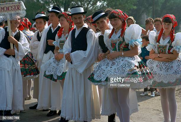Dancers at a folklore festival at Kalocsa Hungary