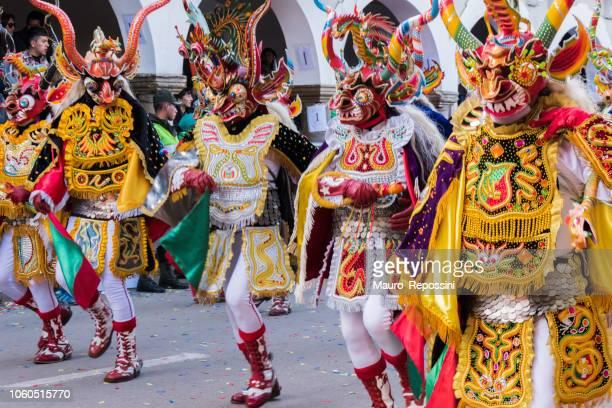 ボリビアのオルロ ・ カーニバルのダンサー。 - ボリビア ストックフォトと画像
