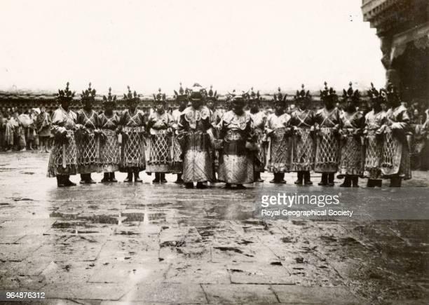 Dancers at Paro Bhutan 1921