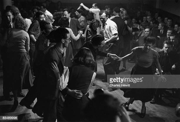 Dancers at the Jazz Club in Windmill Street London listening to jazz trumpeter Humphrey Lyttelton 6th August 1949 Original publication Picture Post...