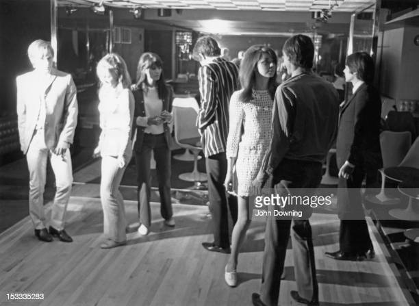 Dancers at the opening night of Sybilla's discotheque in Swallow Street London 22nd June 1966 Among the dancers are pop singer and manager John...