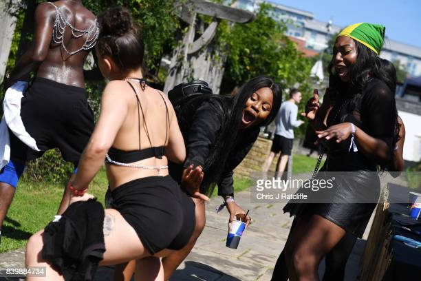 Dancers at the 'Red Bull Music Academy Soundsystem' at Notting Hill Carnival 2017 on August 27 2017 in London England