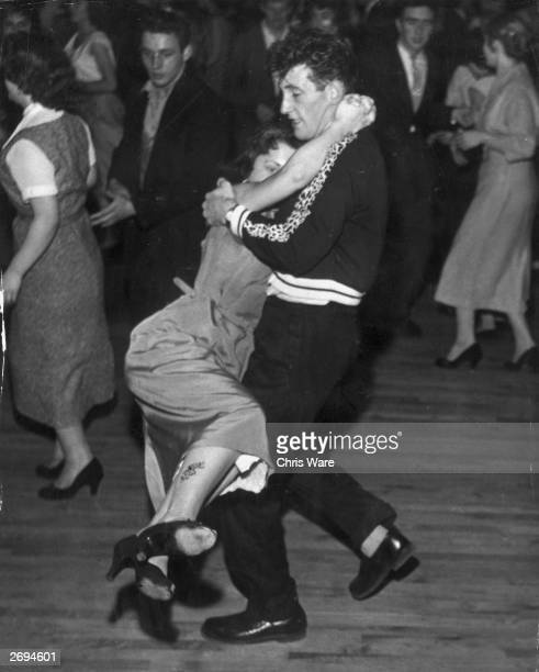 Dancers at the Royal Dance Hall in Tottenham on rock 'n' roll night