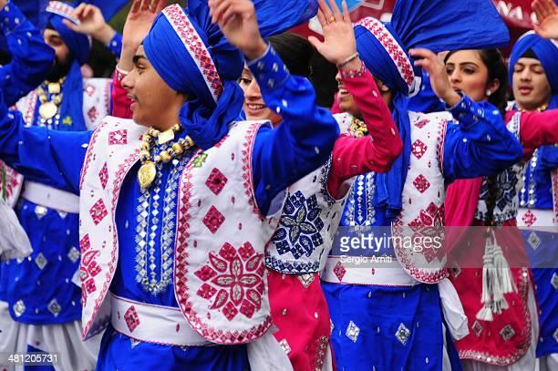 Dancers at the Saint Patrick's Day Parade London