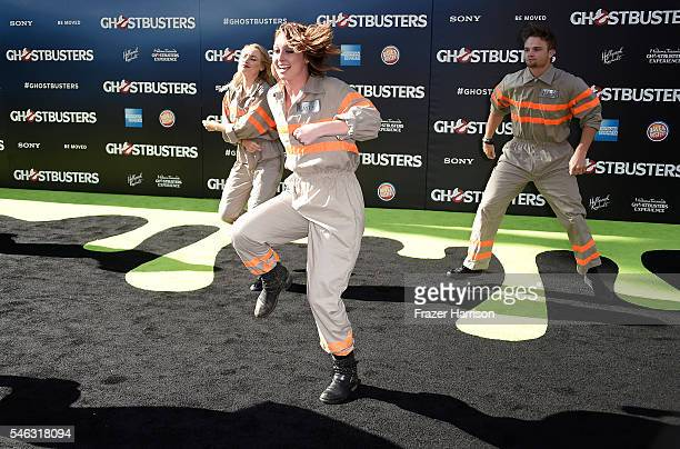 Dancers attend the Premiere of Sony Pictures' Ghostbusters at TCL Chinese Theatre on July 9 2016 in Hollywood California