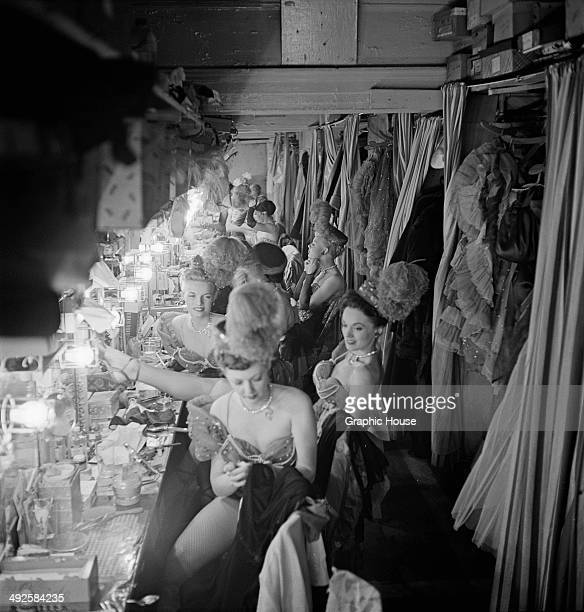 Dancers backstage at a nightclub in the Latin Quarter of New York City USA 1951