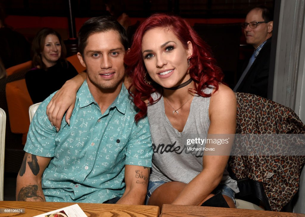 Dancers Bonner Bolton and Sharna Burgess attend the 'Dancing With The Stars' season 24 premiere celebration at Mixology 101 on March 20, 2017 in Los Angeles, California.