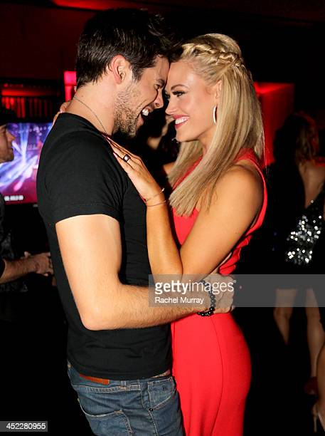 Dancers Brant Daugherty and Peta Murgatroyd attend Dancing With The Stars Season 17 wrap party at Sofitel Los Angeles on November 26 2013 in Los...
