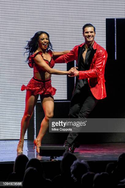 Dancers Britt Stewart and Gleb Savchenko perform during Live A Night To Remember New York New York at Radio City Music Hall on January 15 2019 in New...