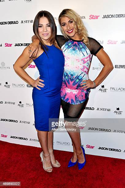 Dancers Brittany Cherry and Emma Slater attend Star Magazine's Hollywood Rocks Event with Jason Derulo at The Argyle on April 15 2015 in Hollywood...