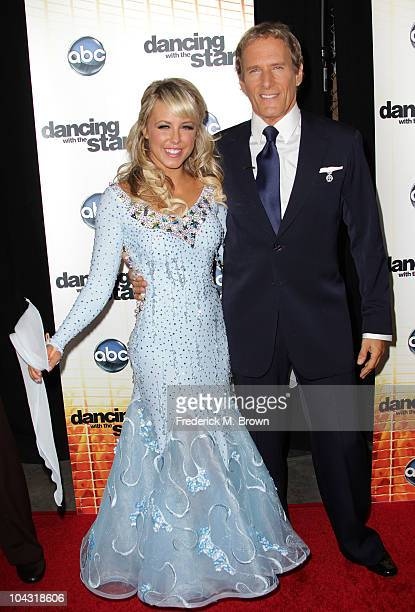 Dancers Chelsie Hightower and Michael Bolton attend the premiere of Dancing With The Stars at CBS Television City on September 20 2010 in Los Angeles...