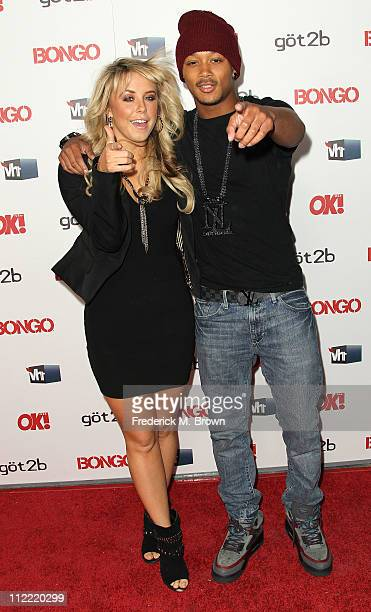 Dancers Chelsie Hightower and Romeo attend the OK Magazine Toasts Hollywood's Sexiest Singles event at the Lexington Social House on April 14 2011 in...