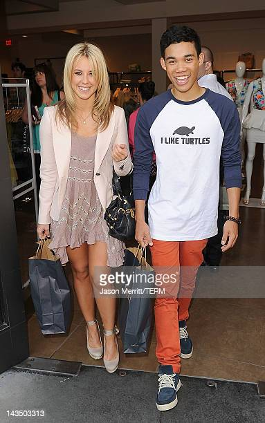 Dancers Chelsie Hightower and Roshon Fegan sighting at The Grove on April 27 2012 in Los Angeles California
