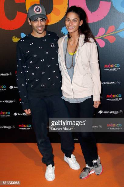 Dancers Christophe Licata and Tatiana Silva attend 'Coco' Special Screening at Le Grand Rex on November 14 2017 in Paris France