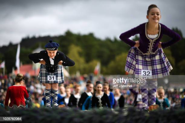 Dancers compete during the Annual Braemar Highland Gathering on September 1 2018 in Braemar Scotland The Braemar Gathering is the most famous of the...