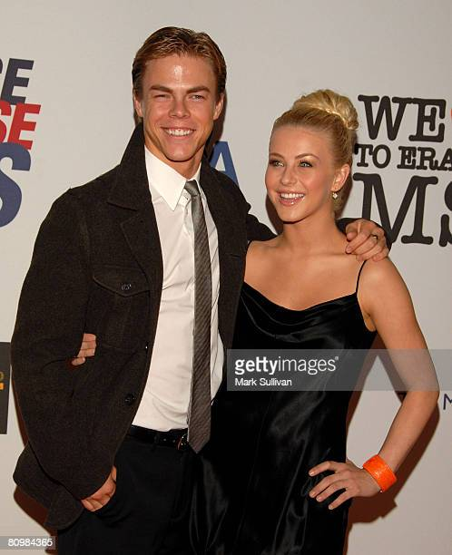 Dancers Derek Hough and Julianne Hough arrives at the 15th Annual Race To Erase MS at the Century Plaza Hotel on May 2, 2008 in Century City,...