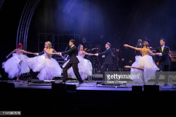 Dancers Dianne Buswell Nadiya Bychkova Neil Jones Katya Jones Karen Clifton and Pasha Kovalev perform on stage during The Strictly Professionals Tour...