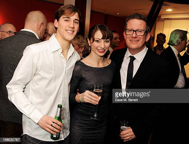 Dancers Dominic North Hannah Vassallo and director/choreographer Matthew Bourne attend an after party following the press night performance of...