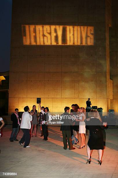 Dancers during the opening night party for 'Jersey Boys' the 2006 Tony Award winner for Best Musical that tells the story of Frankie Valli The Four...
