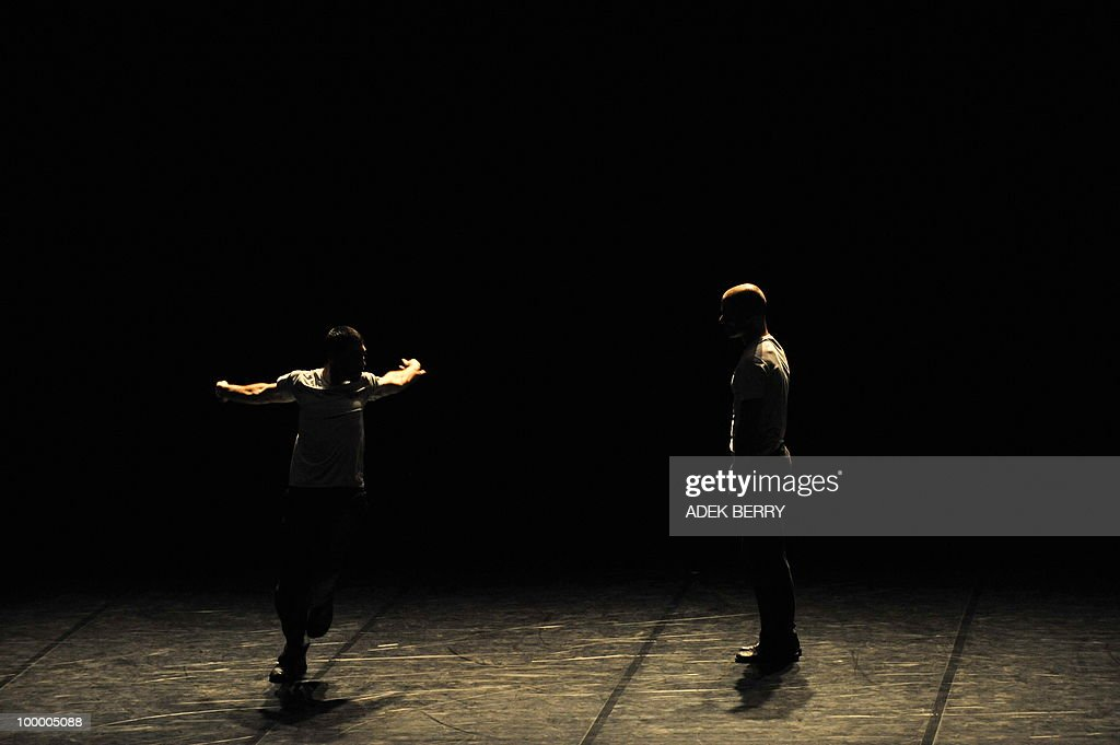 Dancers Emanuel Gat and Roy Assaf perfor