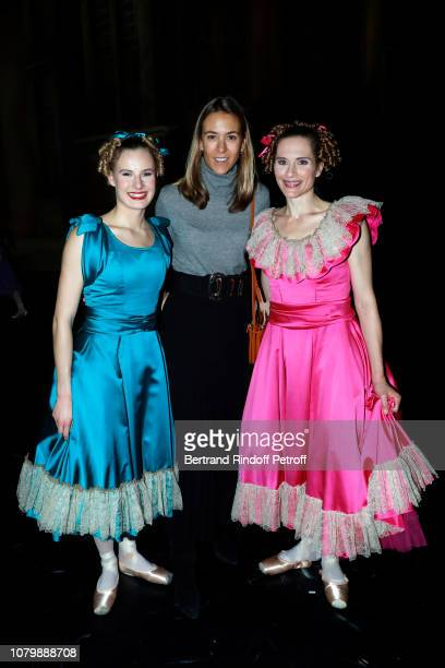 Dancers Emilie Cozette Ida Vilkinkoski and Alexandra Rossi attend 'Cendrillon' choregraphing by Rudolf Noureev during 'Reve d'Enfant' Charity Gala at...